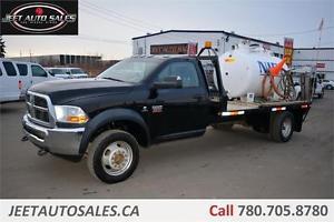 Ram X4 SLT 12'X8' Flat Deck Pump Truck