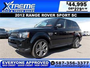 Range Rover Sport 4WD $279 bi-weekly APPLY NOW DRIVE