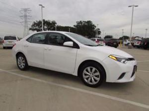 Toyota Corolla S w/ Upgraded Package + Advanced