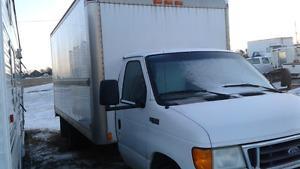 Ford E-450 Diesel Cube Van, 16ft. Box- $