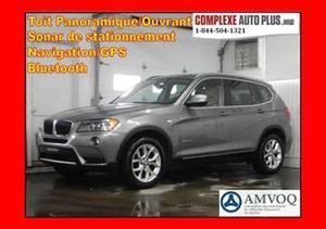 BMW X3 xDrive28i *NAVI/GPS, Toit pano. Cuir marron