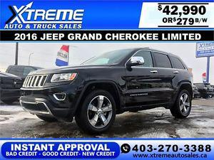 Jeep Grand Cherokee Limited $279 b/w APPLY NOW DRIVE