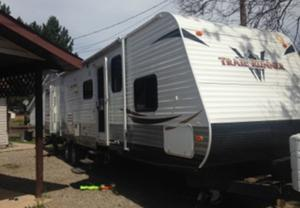 Seba Beach Ft Travel Trailer With Bunks And King Bed White